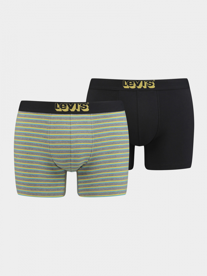 Boxerky LEVI'S 200Sf Triple Vintage Stripe Boxer Brief 2 Pack (1)