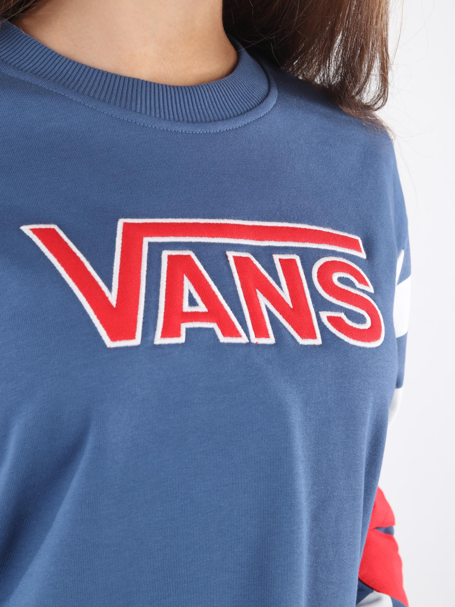 Mikina  Vans Wm Bmx Crew Fleece True Navy (4)