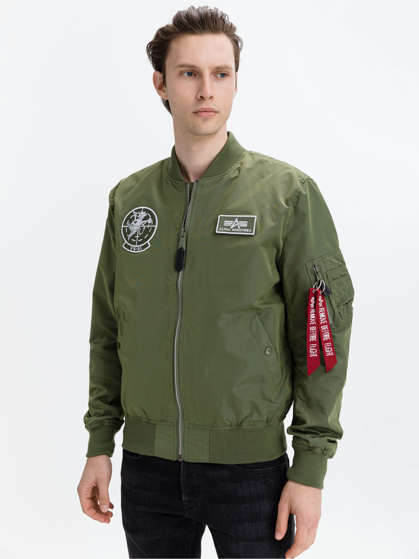 Glow In The Dark Bunda Alpha Industries Zelená