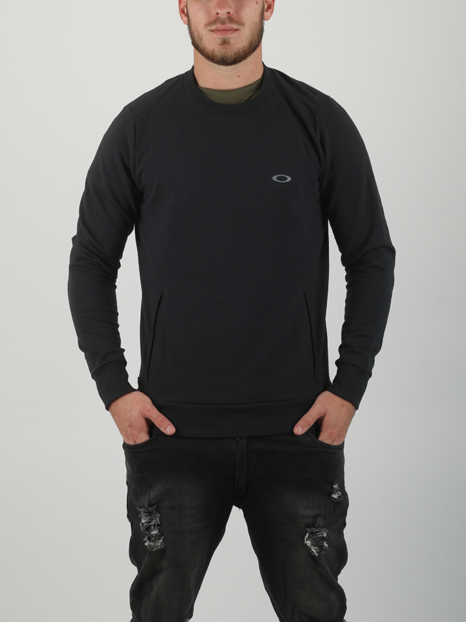 Mikina Oakley Link Crew Fleece Blackout (1)