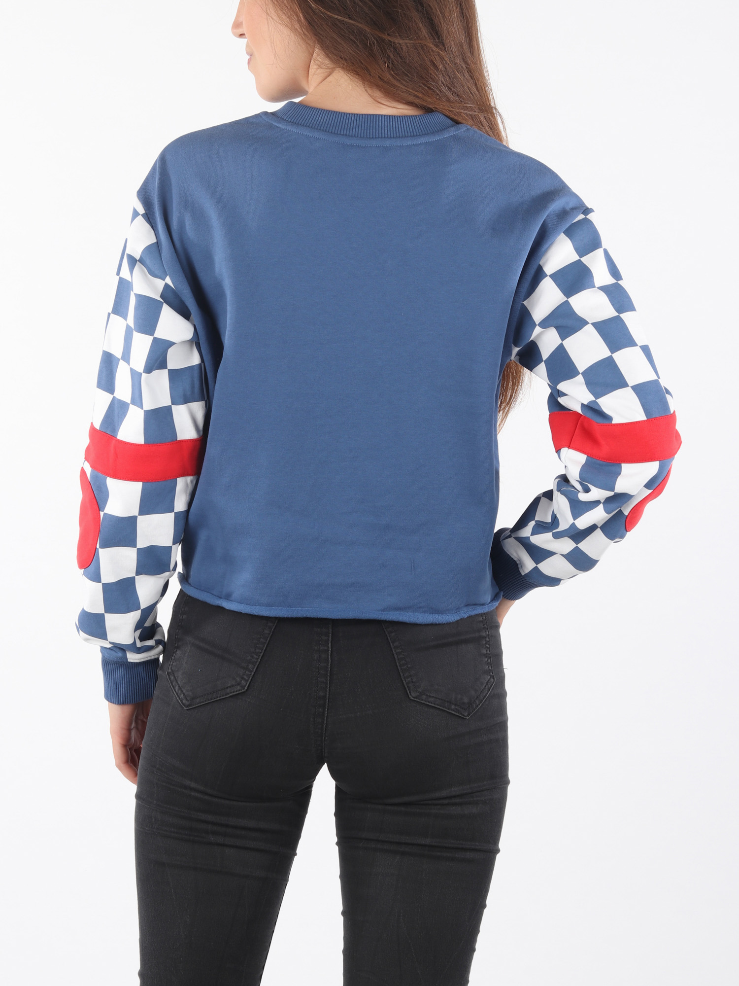 Mikina  Vans Wm Bmx Crew Fleece True Navy (2)