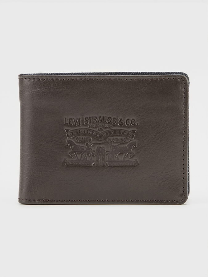 Peňaženka LEVI'S Denim/Leather Bifold With Coin (1)