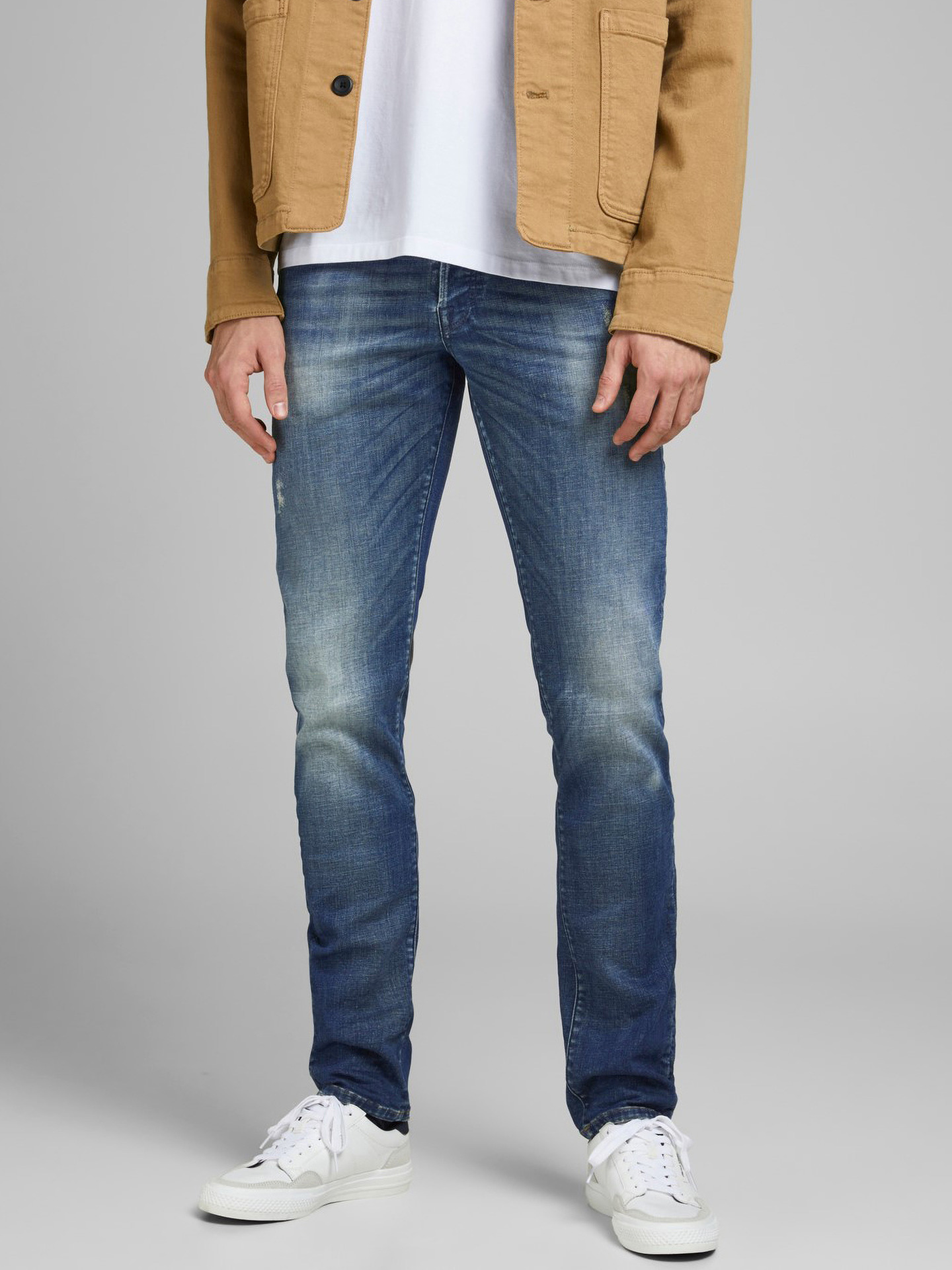 Glenn Rock Jeans Jack   Jones Modrá