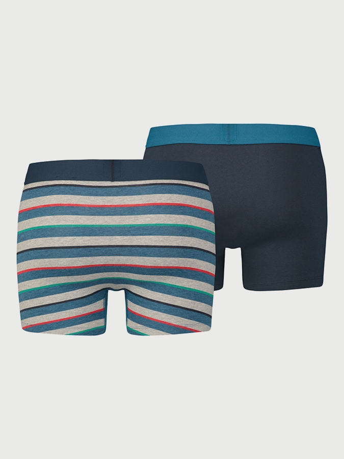 Boxerky LEVI'S 200Sf Multi Col Rugby Stripe Boxer Brief 2 Pack (2)