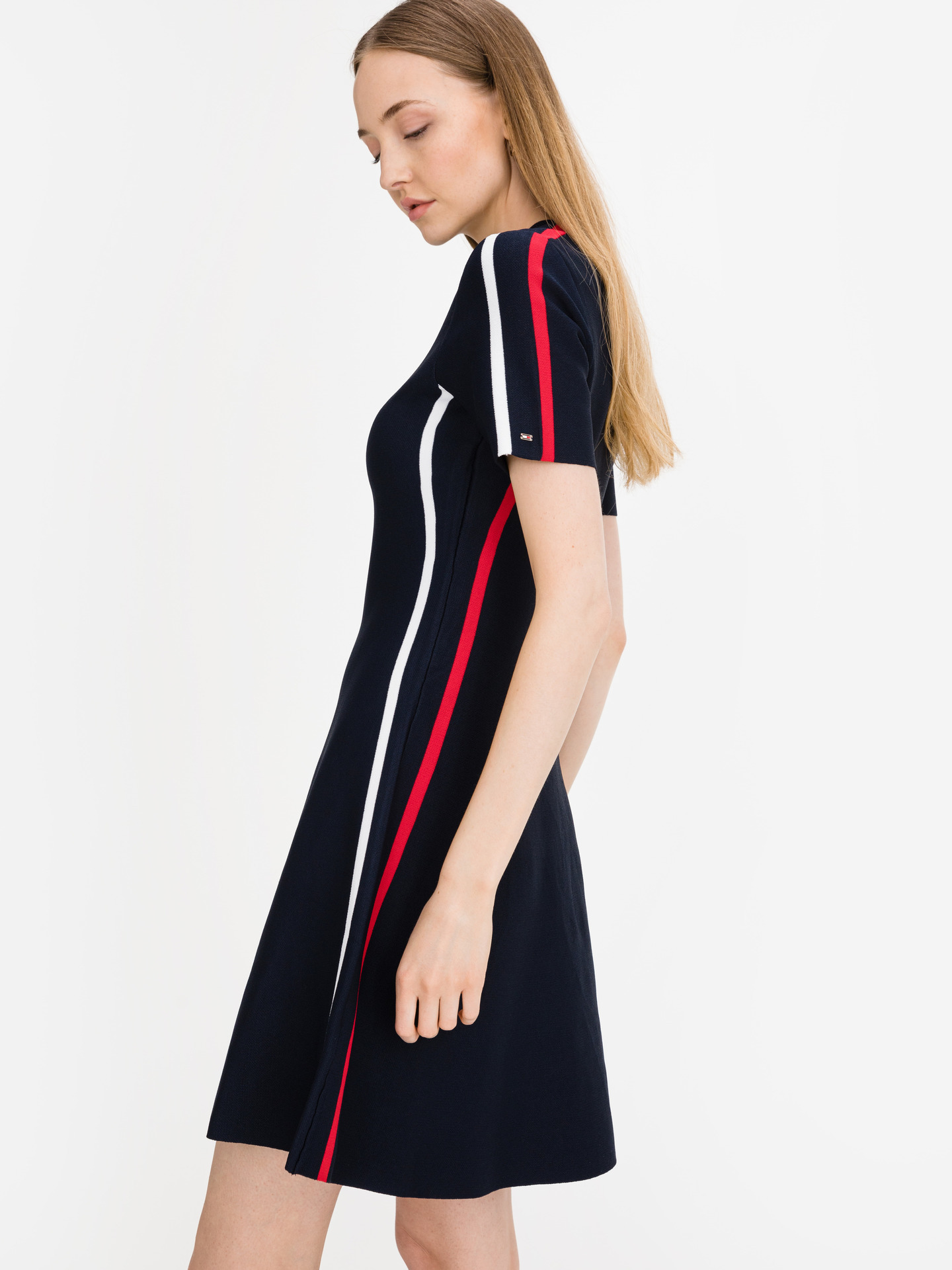 Colourblock Šaty Tommy Hilfiger Modrá