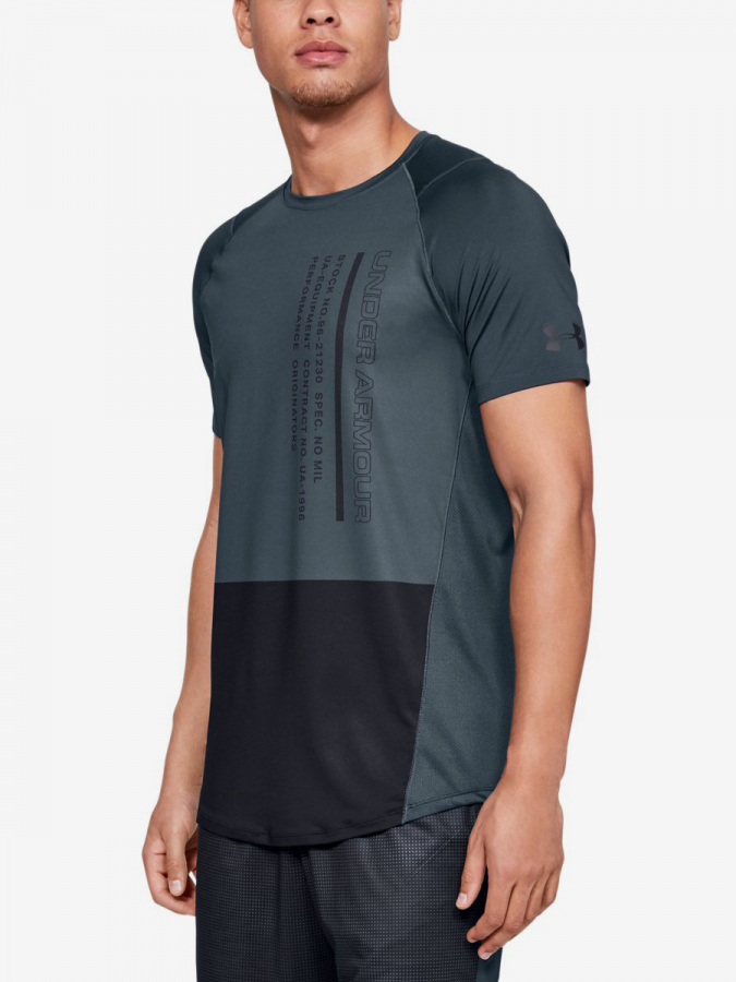 Tričko Under Armour Mk1 Ss Colorblock-Gry (1)