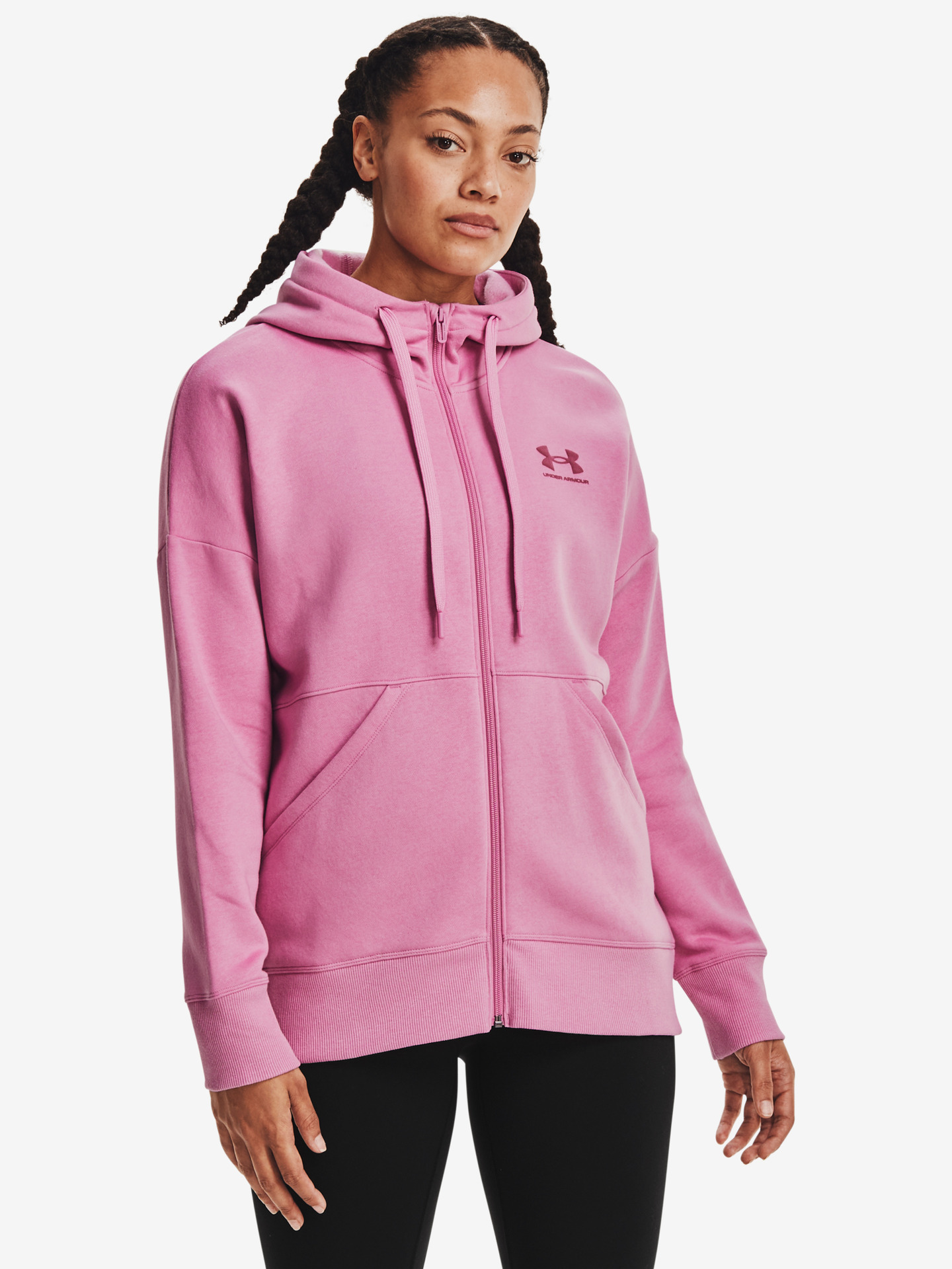Rival Fleece Full Zip Mikina Under Armour Růžová