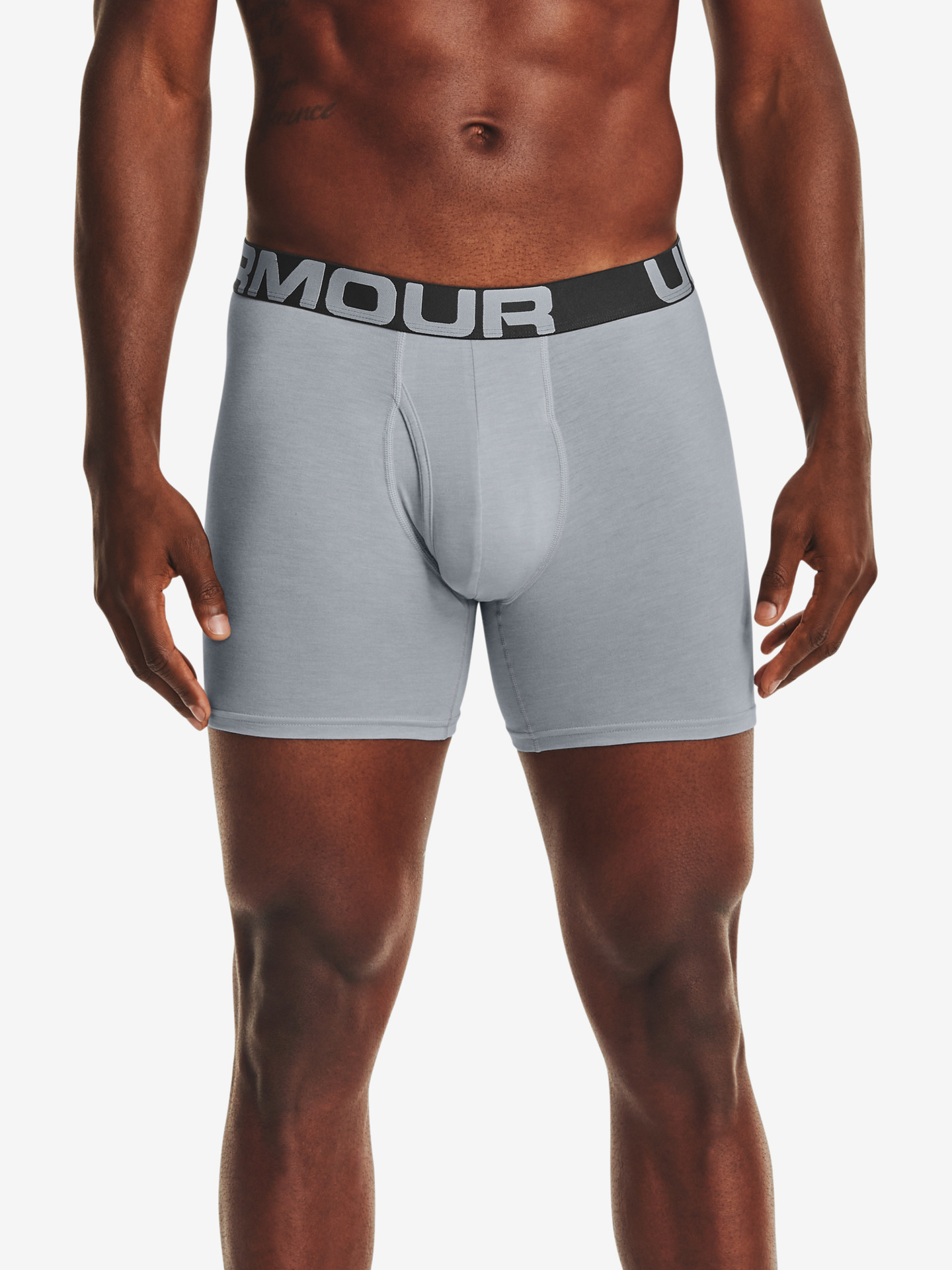 "Charged Cotton® 6"" Boxerky 3 ks Under Armour Šedá"
