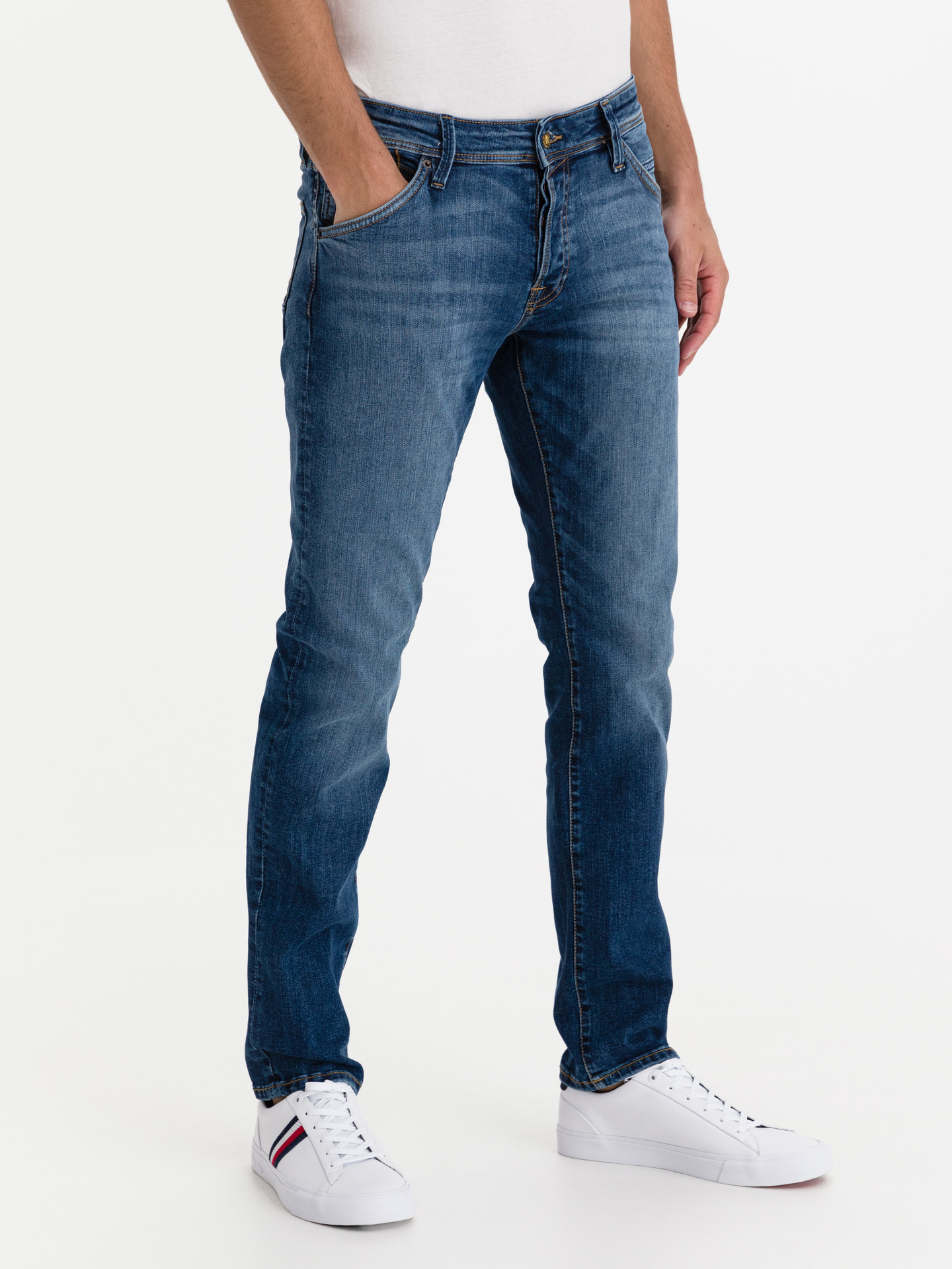 Glenn Fox Jeans Jack   Jones Modrá