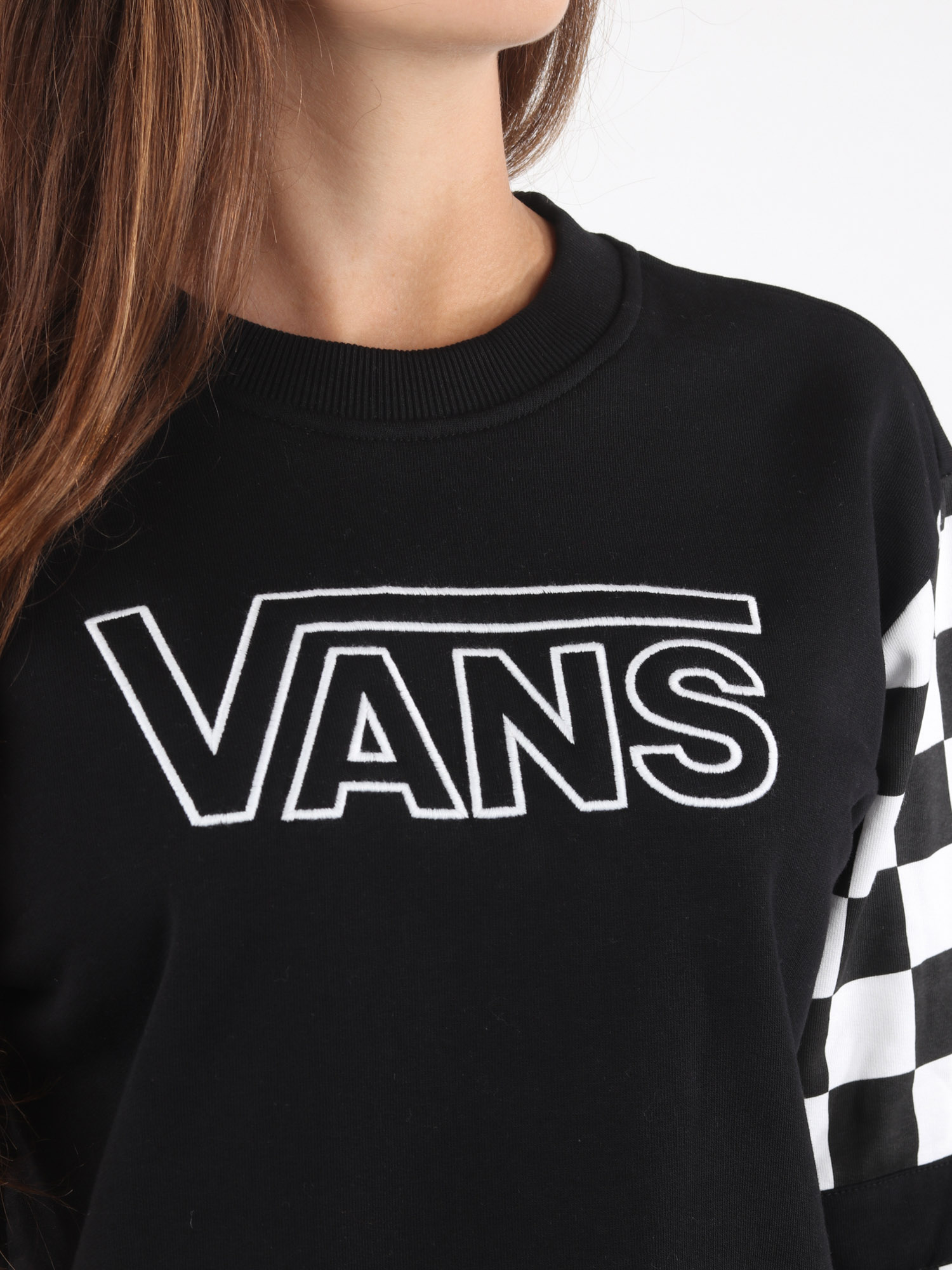 Mikina Vans Wm Bmx Crew Fleece Black (3)