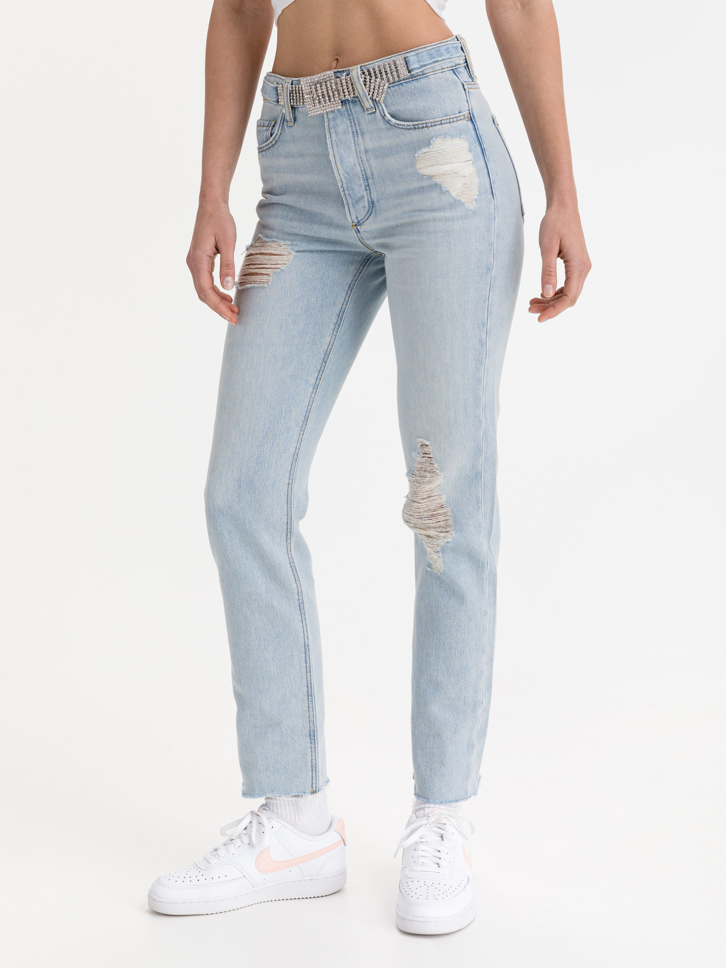 Girly Jeans Guess Modrá