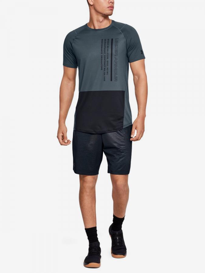 Tričko Under Armour Mk1 Ss Colorblock-Gry (5)