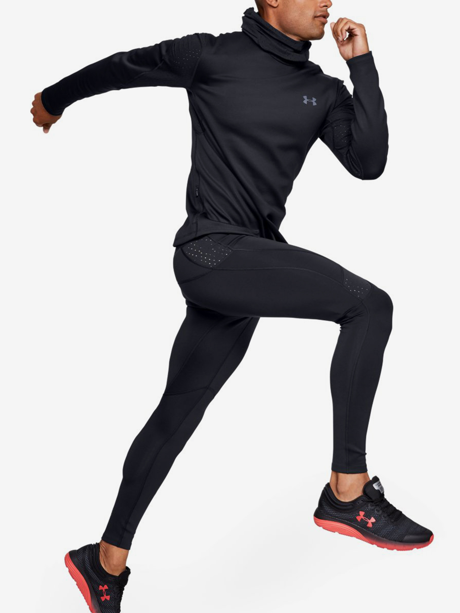 Kompresné legíny Under Armour Qualifier Coldgear Tight-Blk (5)