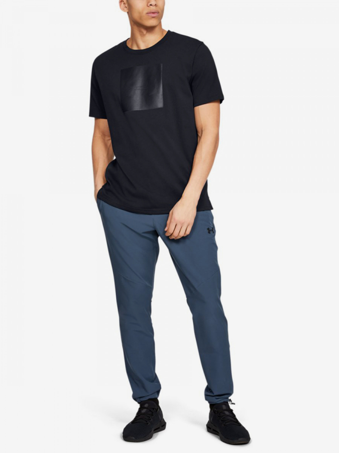 Tričko Under Armour Unstoppable Knit Tee-Blk (5)