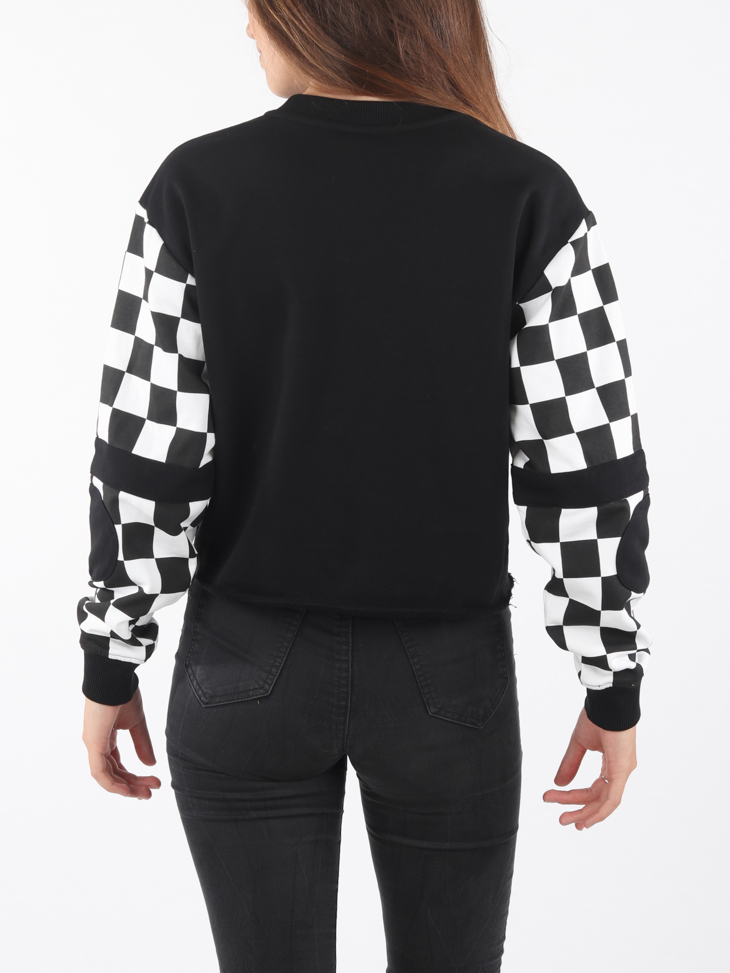 Mikina Vans Wm Bmx Crew Fleece Black (2)