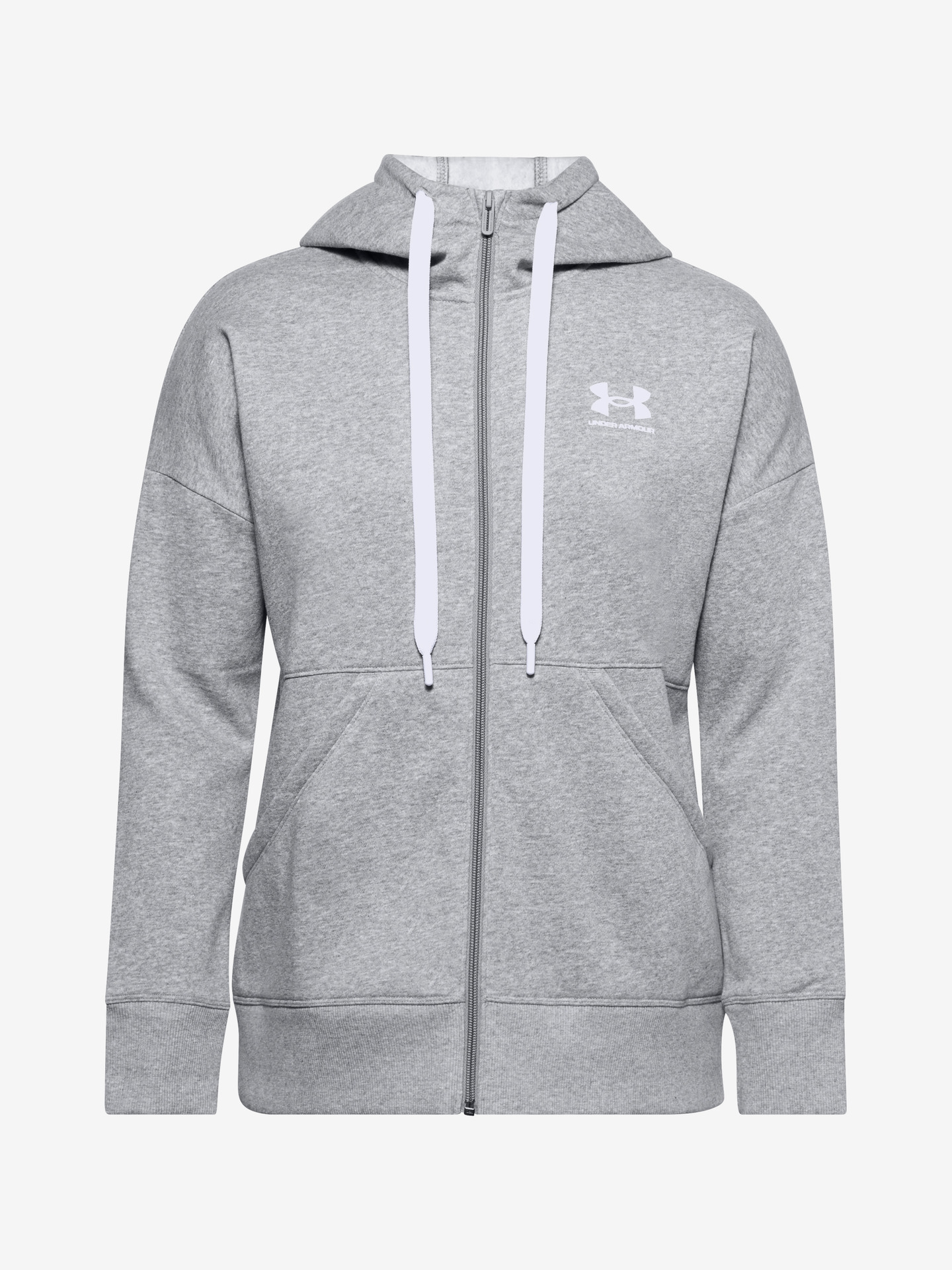 Rival Fleece Full Zip Mikina Under Armour Šedá