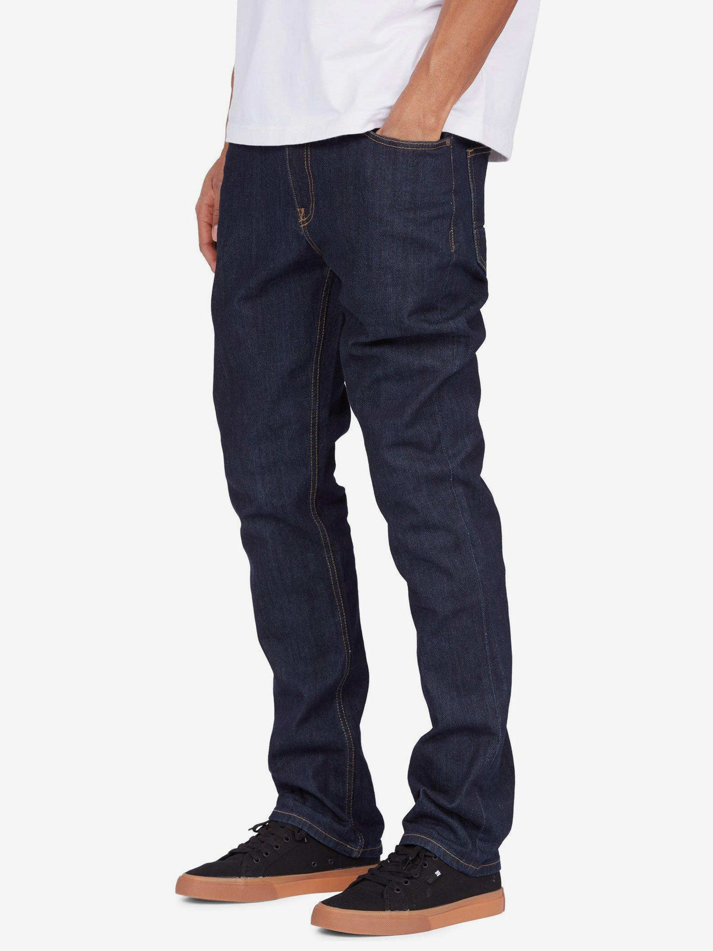 Worker Straight Fit Jeans DC Modrá