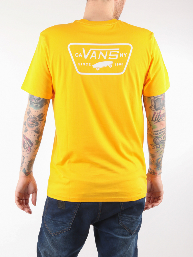 Tričko Vans Mn Full Patch Back S Gold Fusion (2)