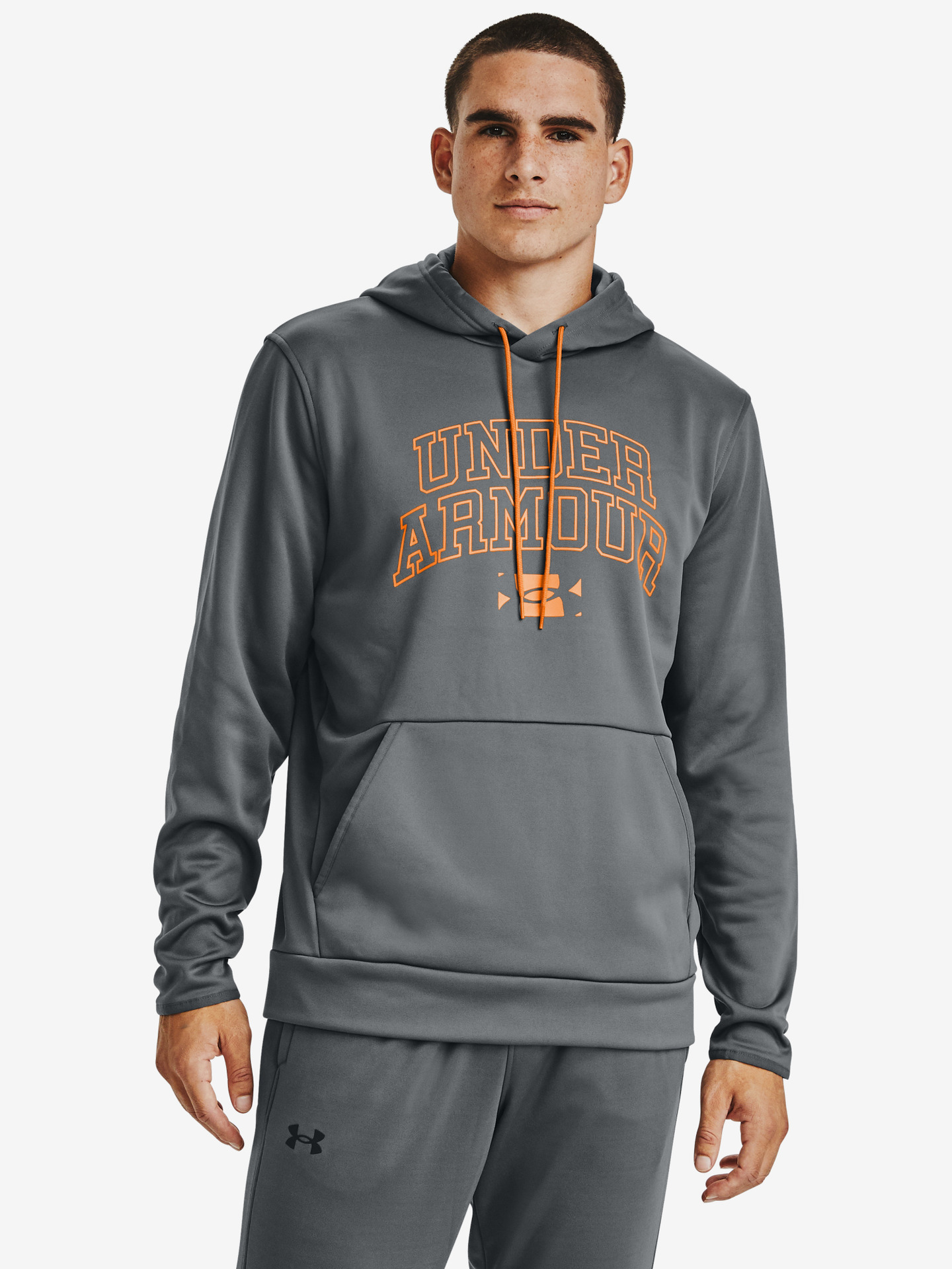 Armour Fleece® Script Graphic Mikina Under Armour Šedá