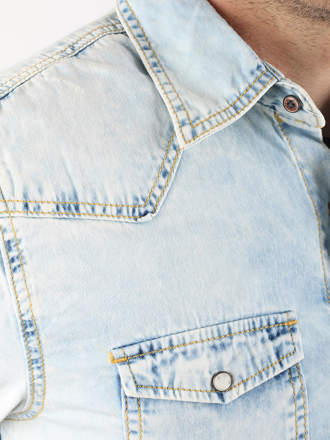 Košeľa Alcott LIGHT BLUE DENIM SHIRT (3)