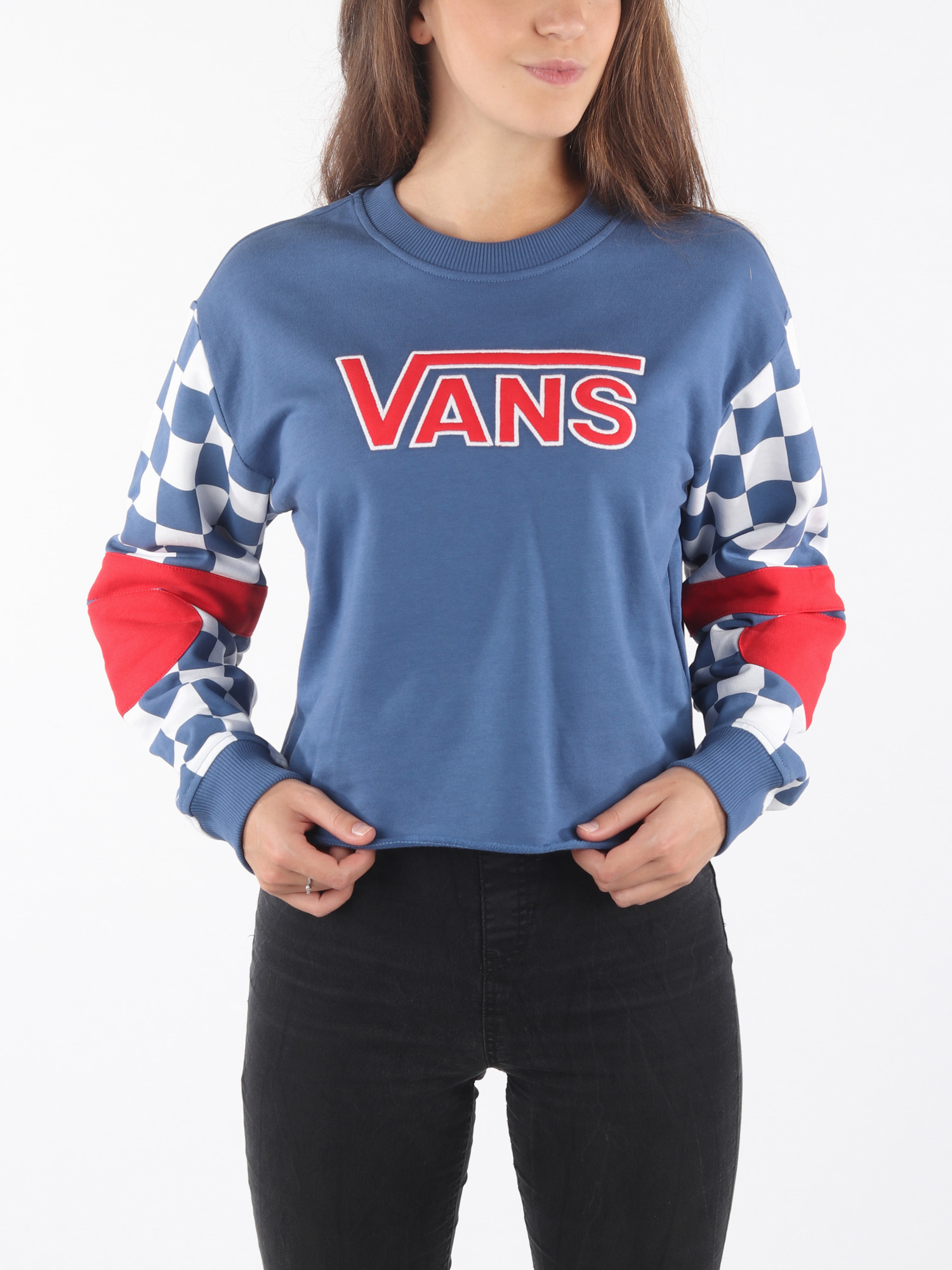 Mikina  Vans Wm Bmx Crew Fleece True Navy (1)