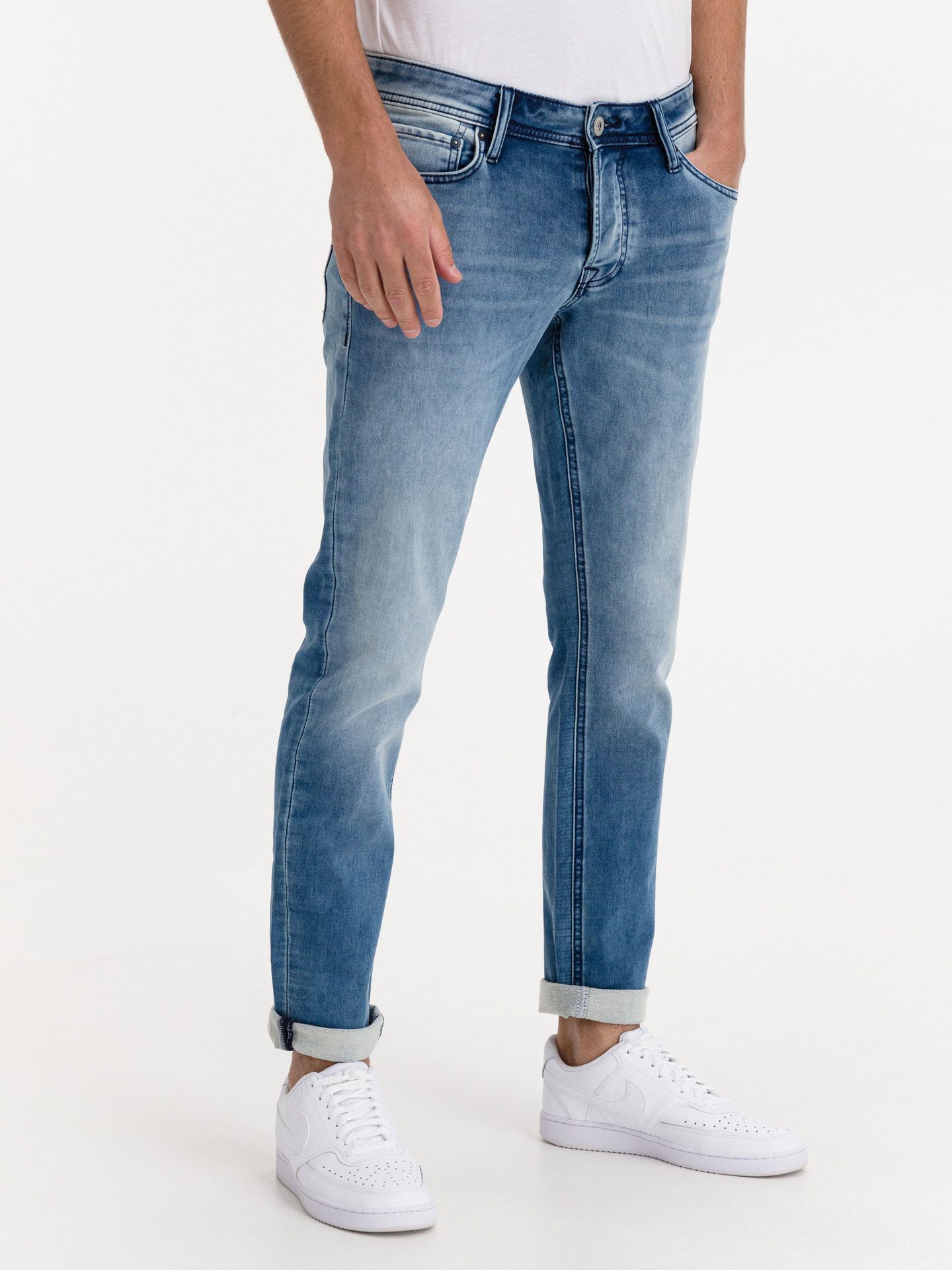 Glenn Original Indigo Knit Jeans Jack   Jones Modrá