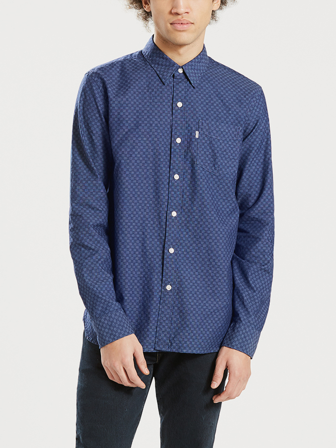 Košeľa Levi's® Sunset 1 Pocket Shirt Caspia Dark Indig (1)