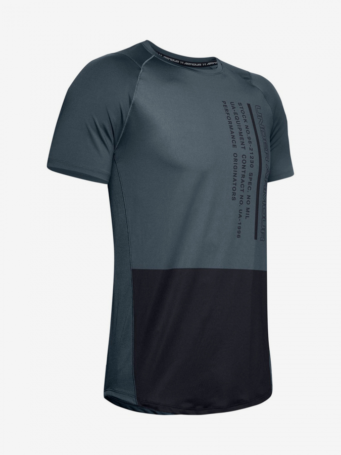 Tričko Under Armour Mk1 Ss Colorblock-Gry (3)
