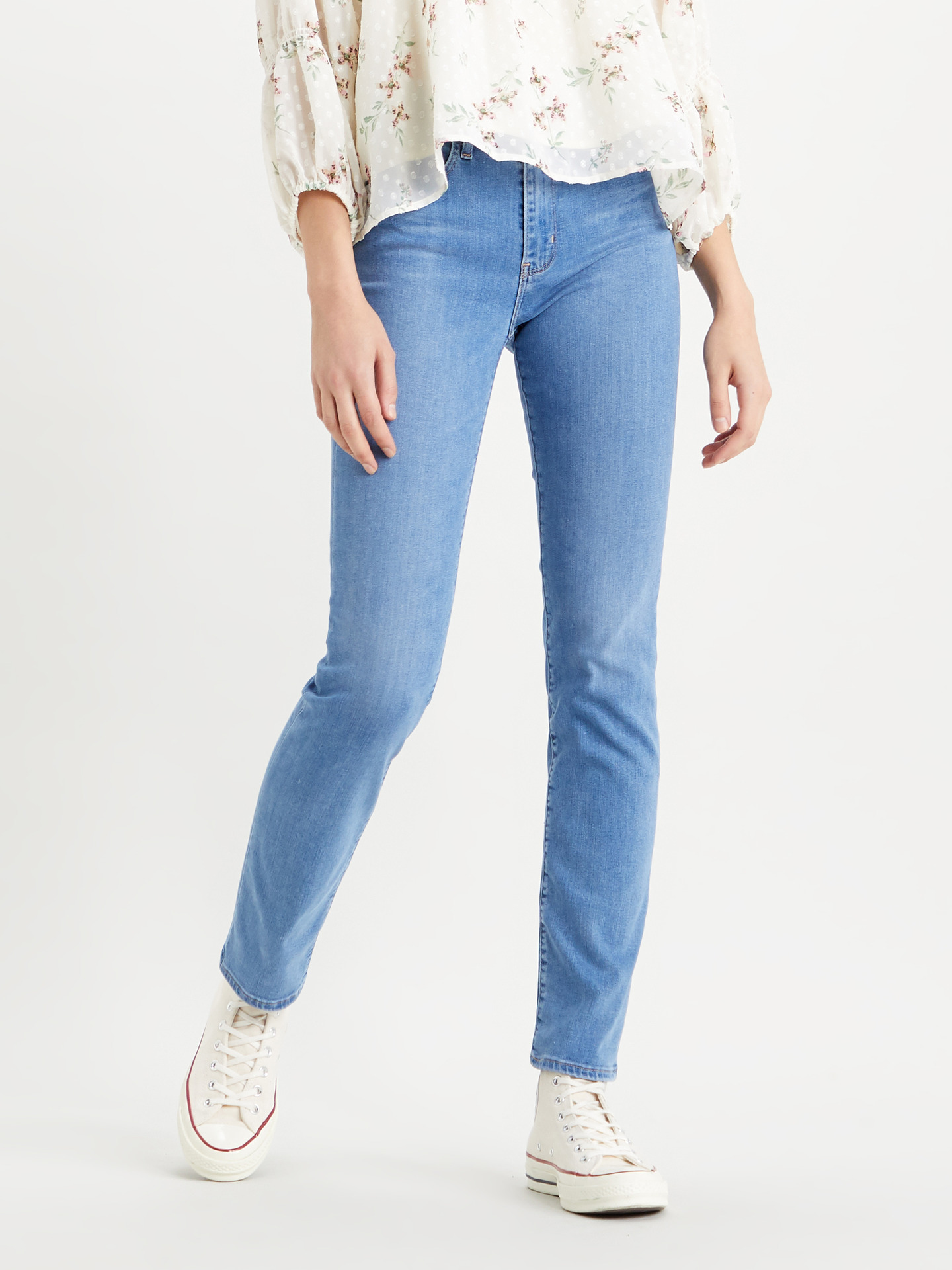 724™ High Rise Straight Jeans Levi s® Modrá
