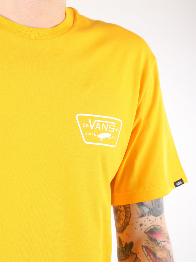 Tričko Vans Mn Full Patch Back S Gold Fusion (3)