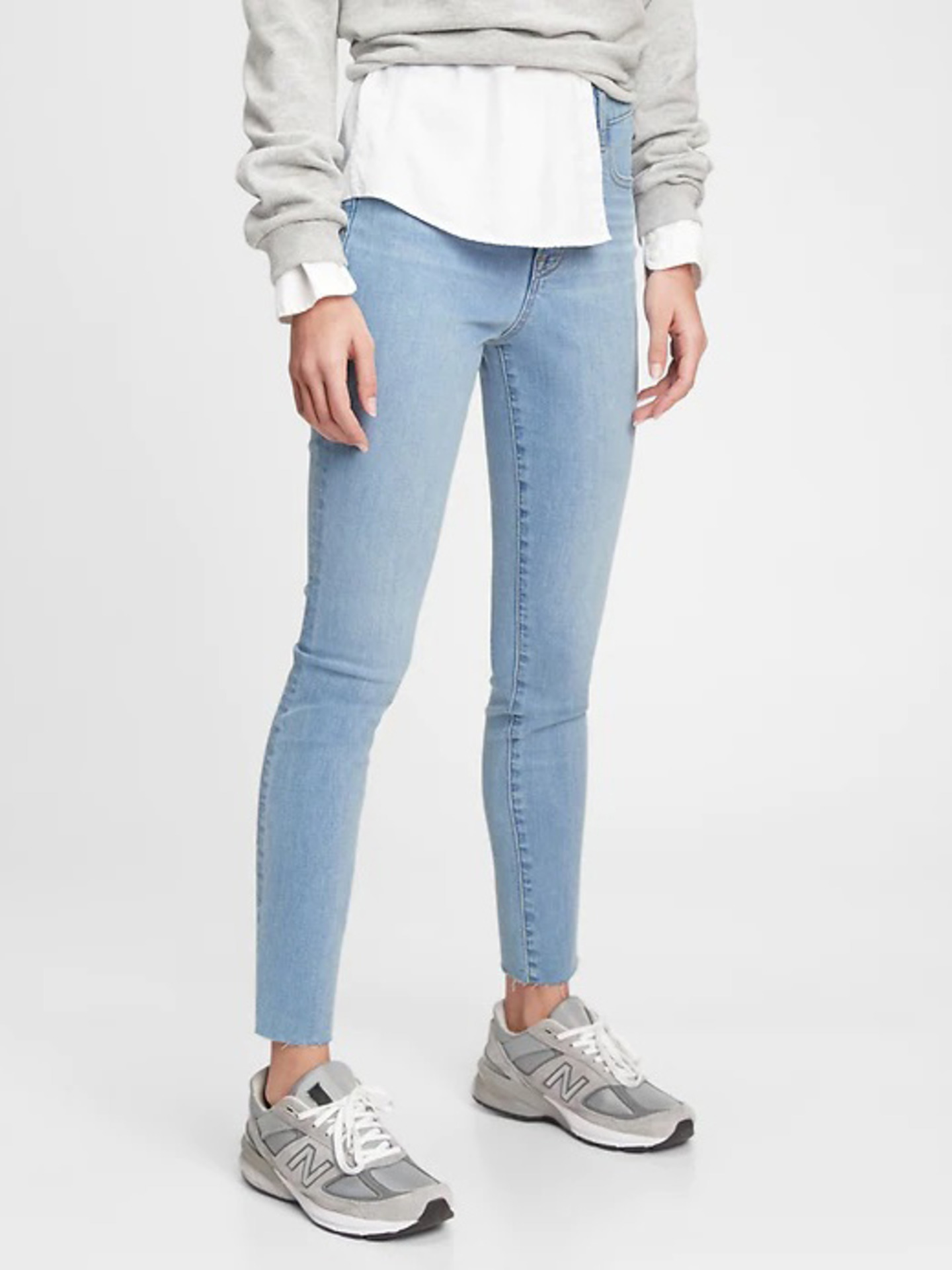 The Gen Good High Rise True Skinny Jeans GAP Modrá