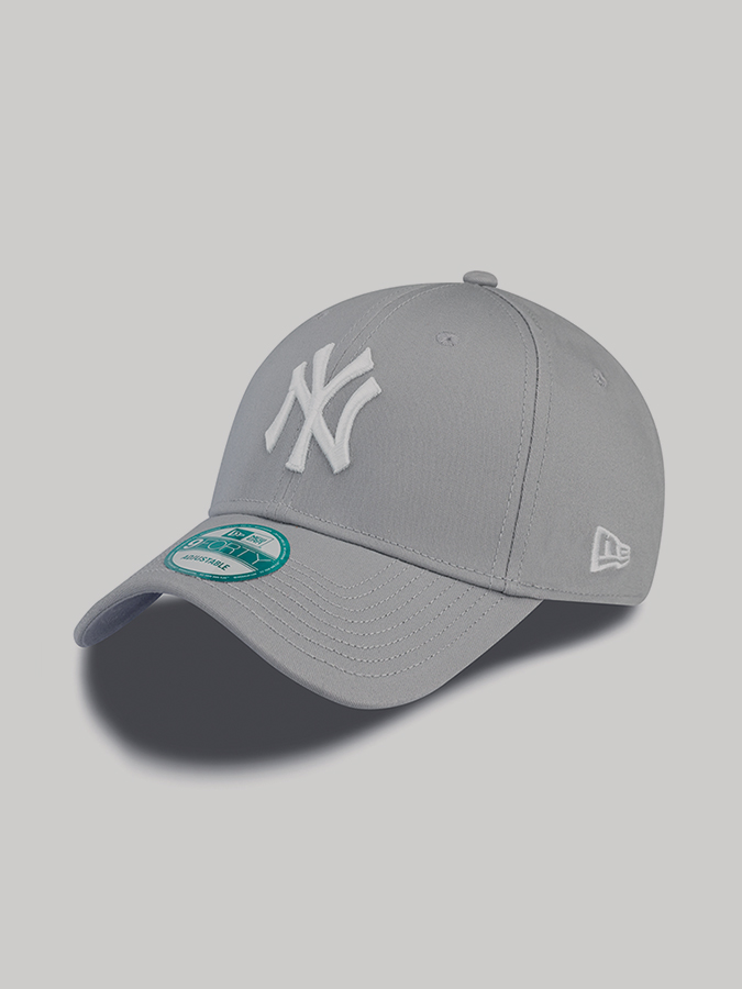 New York Yankees MLB League Basic 9Forty Kšiltovka New Era Šedá