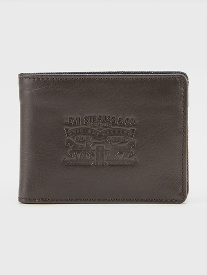 Peňaženka LEVI'S Denim/Leather Bifold With Coin