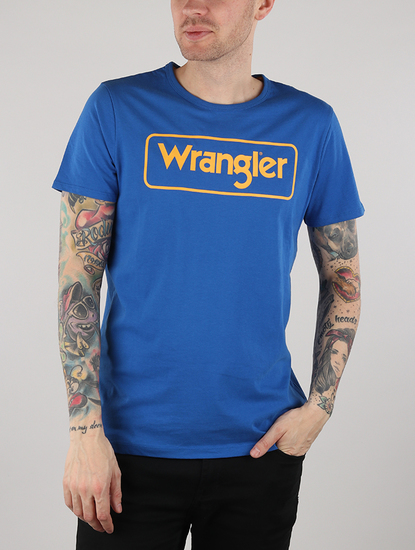 Tričko Wrangler B&Y Logo Tee Nautical Blue