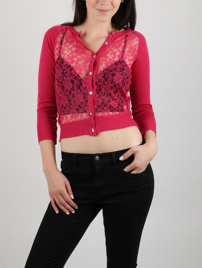 Sveter Alcott LACE ON FRONT CARDIGAN