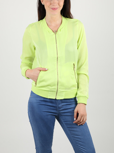 Bunda Alcott SATIN JACKET WITH ZIPS