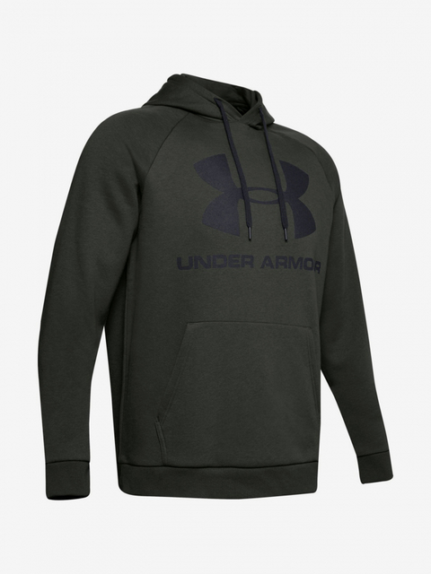 Mikina Under Armour Rival Fleece Sportstyle Logo Hoodie-Grn