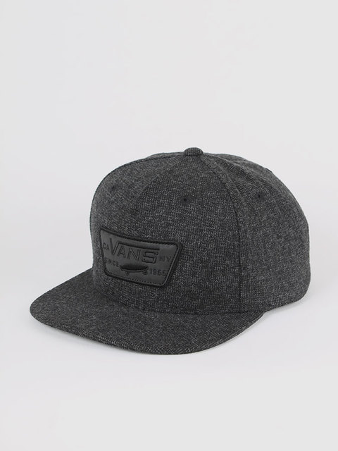 Šiltovka Vans M FULL PATCH SNAPBAC CONCRETE BLACK