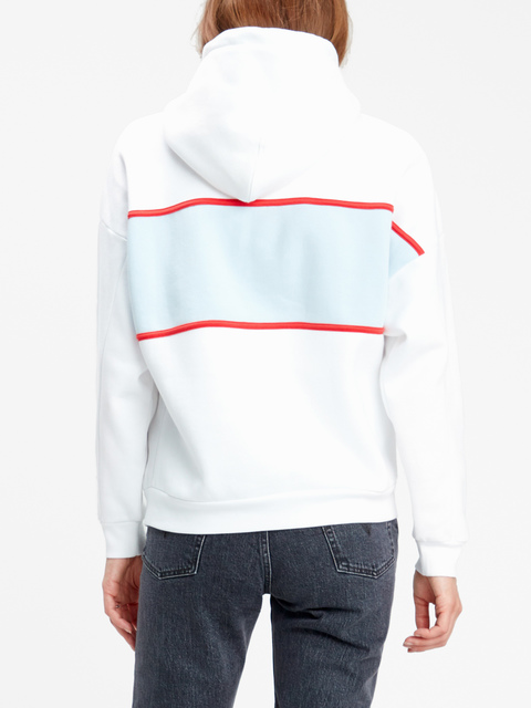 Mikina LEVI'S Cameron Hoodie Levi Chest Hit White/Bab