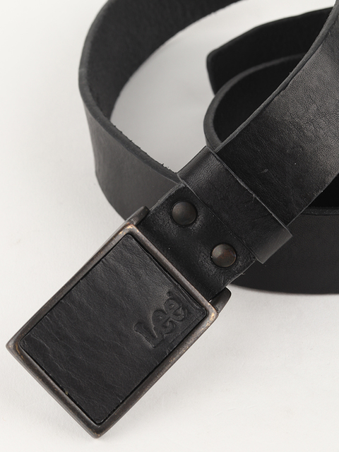 Opasok Lee Square Buckle Belt Black