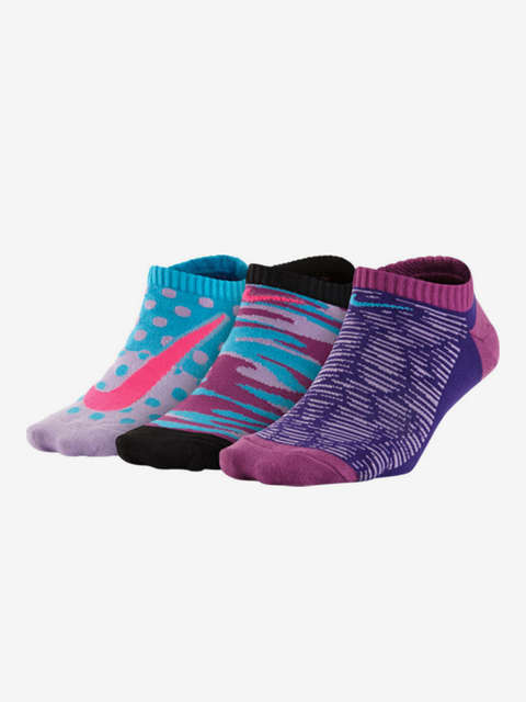 Ponožky Nike 3P Girls Graphic Ltw Ctn No S