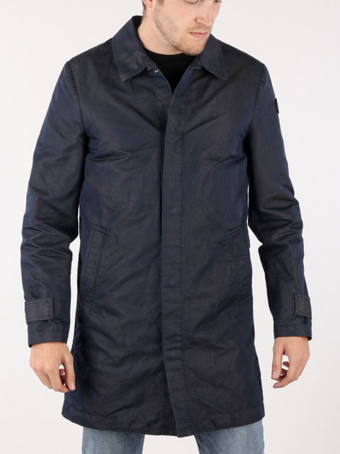 Bunda Trussardi Trench Regular Fit Gabardine Poly/Cotton Garment Dyed