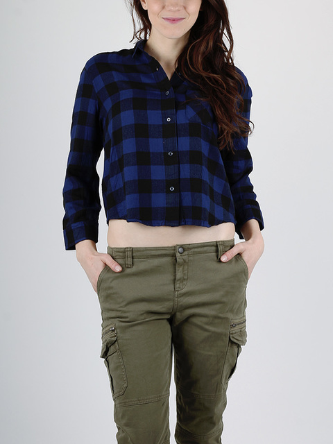 Košile Superdry CROPPED SHIRT