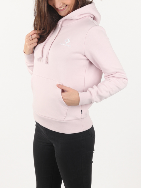 Mikina Converse EMBROIDERED FLEECE PULLOVER HOODIE