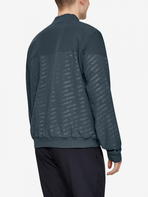 Mikina Under Armour Unstoppable Emboss Bomber-Gry