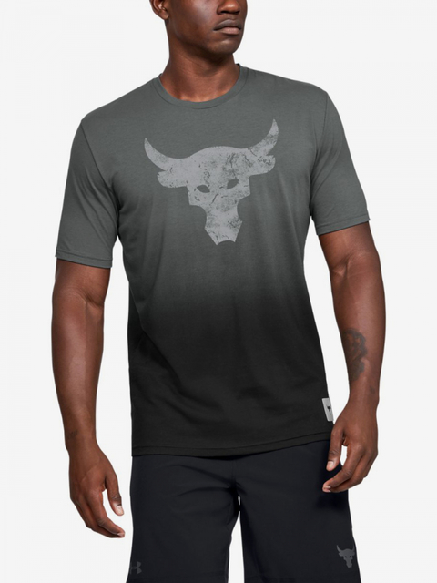 Tričko Under Armour Project Rock Bull Graphic Ss-Grey