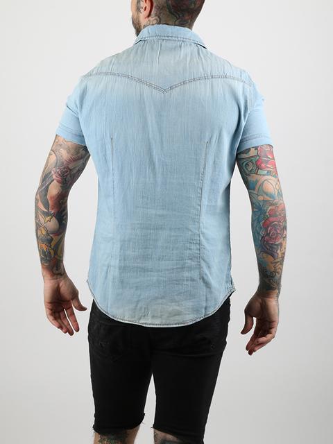 Košeľa Alcott SHORT SLEEVE DENIM SHIRT
