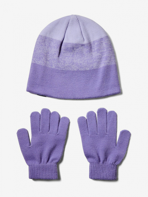 Čiapky a rukavice Under Armour Girls Beanie Glove Combo-Ppl