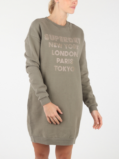 Šaty Superdry Embellished Sweat Dress