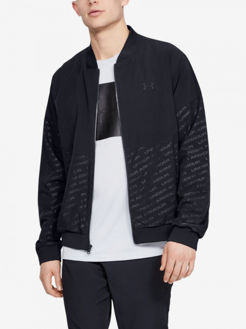 Mikina Under Armour Unstoppable Emboss Bomber-Blk